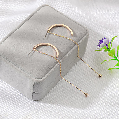 Žene Okrugle naušnice Klasičan dame Jednostavan Korejski Moda Naušnice Jewelry Zlato / Pink Za Dnevno Rad 1 par
