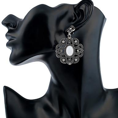 Žene Viseće naušnice dame Stilski Vintage Umjetno drago kamenje Glina Naušnice Jewelry Pink Za Dnevno 1 par