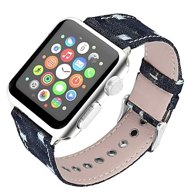 prava koža Pogledajte Band Remen za Apple Watch Series 4/3/2/1 Crna / Plava / Smeđa 23 cm / 9 inča 2.1cm / 0.83 Palac