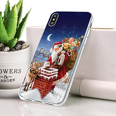 رخيصةأون أغطية أيفون-غطاء من أجل Apple iPhone XS ضد الغبار / نحيف جداً غطاء خلفي عيد الميلاد ناعم TPU