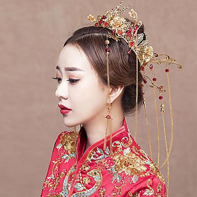 Nevjesta Clasic Kićanka Leptiraste Tradicionalno Šeširi Kopče za kosu Svadbeni nakit Setovi Za Djevojačka večer Svadba Žene Djevojčice Nakit odjeće
