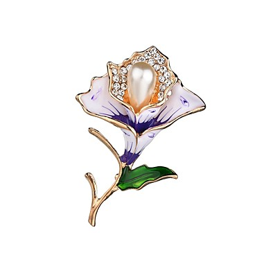 Žene Broševi Klasičan Cvijet dame Jedinstven dizajn Broš Jewelry Crvena Crvena Za Večer stranka Rad