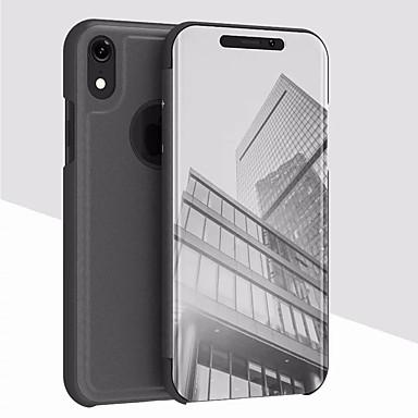 voordelige iPhone X hoesjes-hoesje Voor Apple iPhone XS / iPhone XR / iPhone XS Max met standaard / Beplating / Spiegel Achterkant Effen Hard Acryl