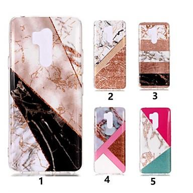 رخيصةأون LG أغطية / كفرات-غطاء من أجل LG LG V30 / LG Q6 / LG K10 2018 IMD / نموذج غطاء خلفي حجر كريم ناعم TPU