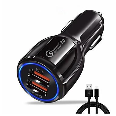 Auto punjač USB punjač EU utikač sa kabelom / Multi-izlaz / QC 3.0 2 USB portova 3.1 A DC 5V za