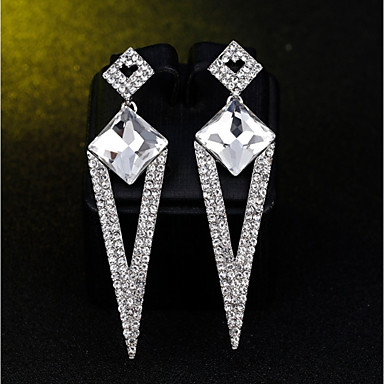 Žene Viseće naušnice Klasičan Long dame Stilski Klasik Elegantno Umjetno drago kamenje Imitacija dijamanta Naušnice Jewelry Pink Za Angažman Svečanost 1 par