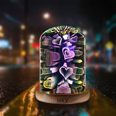 HKV 1pc 3D noćno svjetlo Šarene USB Kreativan / Kamado roštilj / Romantični 5 V