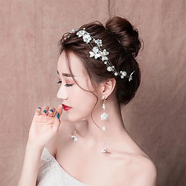 Nevjesta Cvijetan Kineski stil Elegantno Šeširi Kopče za kosu Ukosnica Svadbeni nakit Setovi Za Djevojačka večer Svadba Žene Djevojčice Nakit odjeće / Cvjetni print