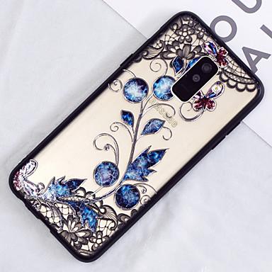 رخيصةأون حافظات / جرابات هواتف جالكسي A-غطاء من أجل Samsung Galaxy A6 (2018) / A6+ (2018) / A3 (2017) شبه شفّاف / نموذج غطاء خلفي الطباعة الدانتيل / زهور قاسي الكمبيوتر الشخصي