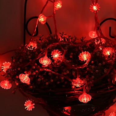 5m Žice sa svjetlima 50 LED diode Crveno Ukrasno AA baterije su pogonjene 1set