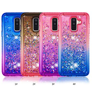 Θήκη Za Samsung Galaxy A6 (2018) / A6+ (2018) Štras / S tekućinom Stražnja maska Prijelaz boje Mekano TPU