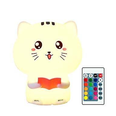 1pc catus Noćno svjetlo dječjeg vrtića Šarene USB Za djecu / Daljinski upravljano / Slatko 5 V / Zatamnjen