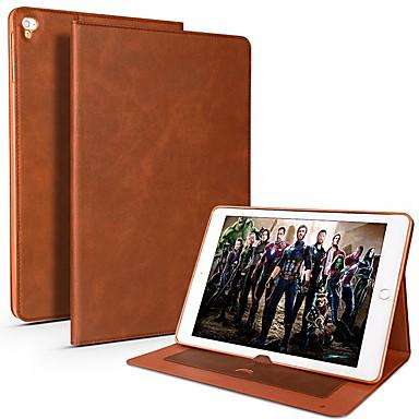 رخيصةأون أغطية أيباد-غطاء من أجل Apple iPad Air / iPad 4/3/2 / iPad Mini 3/2/1 حامل البطاقات / ضد الصدمات / مقاوم للماء غطاء كامل للجسم لون سادة ناعم جلد PU / TPU / iPad Pro 10.5 / iPad (2017)