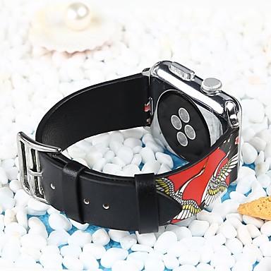 prava koža Pogledajte Band Remen za Apple Watch Series 4/3/2/1 Crna 23 cm / 9 inča 2.1cm / 0.83 Palac