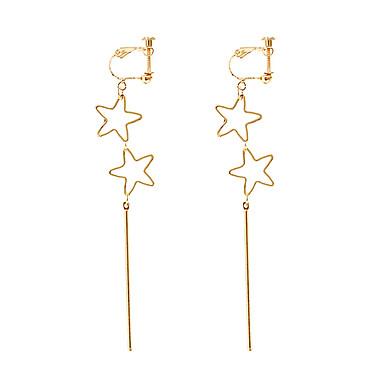 Žene Šupalj Long Klipse - Csillag dame, Jednostavan, Korejski, Moda Jewelry Zlato Za Kauzalni Dnevno / 1 par