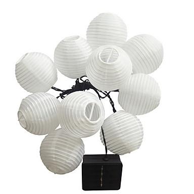 5m bijelo svjetlo lanterna svjetla 20 LEDs topli bijeli dekorativni solarni 1set
