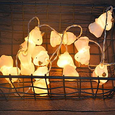 3m crtani jednorog string svjetla 20 leda topla bijela spavaća soba ukrasna aa baterije powered 1set