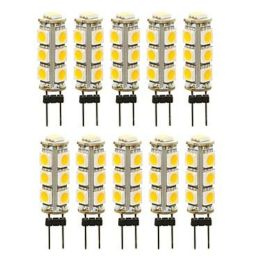 SENCART 10pcs 3 W LED svjetla s dvije iglice 180 lm G4 T 13 LED zrnca SMD 5050 Ukrasno Toplo bijelo Bijela Crveno 12 V