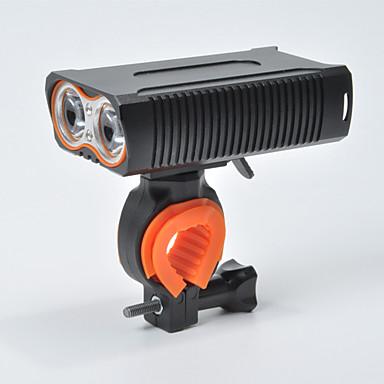 olcso Kerékpár világítás-LED Kerékpár világítás Kerékpár első lámpa Kerékpár Kerékpározás Vízálló Hordozható 18650 1600 lm Újratölthető USB 18650 Fehér Kempingezés / Túrázás / Barlangászat Kerékpározás