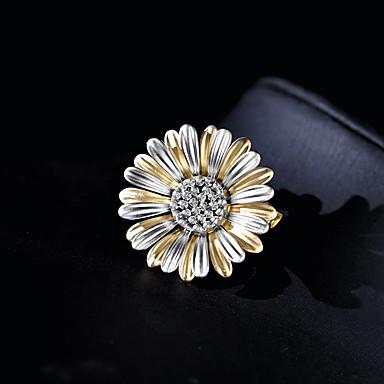 Žene Broševi Dvaput Slojeviti Tratinčica dame pomodan Broš Jewelry Bijela Matt gray Za Ulica