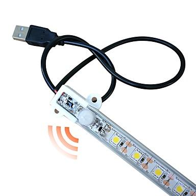 zdm® 1pc 50cm vodonepropusna indukcijska svjetiljka LED svjetla 5050 smd hladna bijela / topla bijela / senzor tijela / novi dizajn / usb powered dc5v