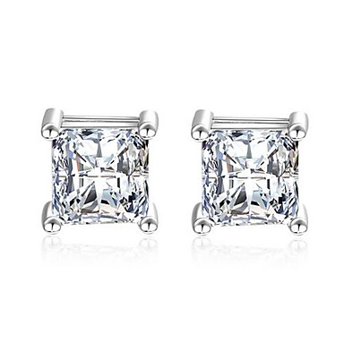 Žene Sitne naušnice Klasičan Romantični Imitacija dijamanta Naušnice Jewelry Pink Za Vjenčanje Dnevno 1 par