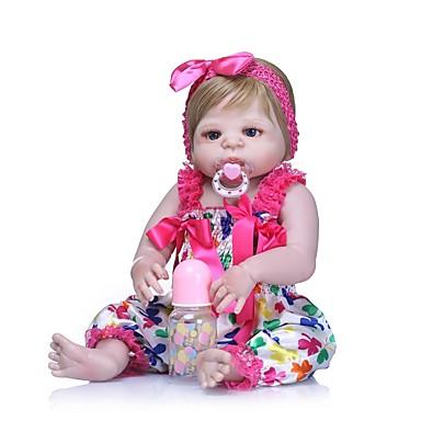 NPKCOLLECTION NPK DOLL Autentične bebe Djevojka lutka Za ženske bebe 24 inch Cijeli silikon tijela Vinil - novorođenče Dar Umjetna implantacija Plave oči Dječjom Djevojčice Igračke za kućne ljubimce