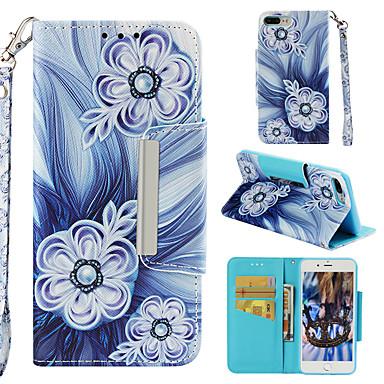 Θήκη Za Apple iPhone 7 Plus Novčanik / Utor za kartice / Zaokret Stražnja maska Cvijet Tvrdo PU koža