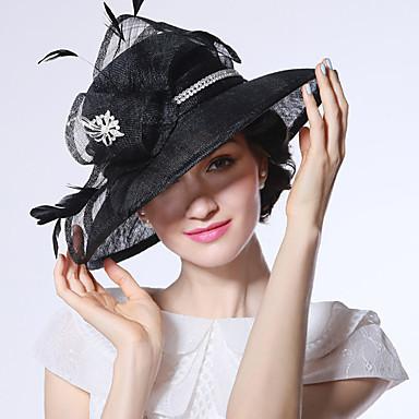 Elizabeta Čudesna gđa. Maisel Žene Odrasli dame Retro / vintage Feather Net Hat Kentucky Derby Hat Fascinator Hat šešir Crn Cvijet Šeširi Lolita Pribor