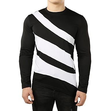 Majica s rukavima Muškarci - Osnovni Dnevno Pamuk Color block Okrugli izrez Obala / Dugih rukava
