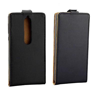olcso Nokia tokok-Case Kompatibilitás Nokia 8 Sirocco / Nokia 7 Plus / Nokia 1 Plus Kártyatartó / Flip Héjtok Egyszínű PU bőr