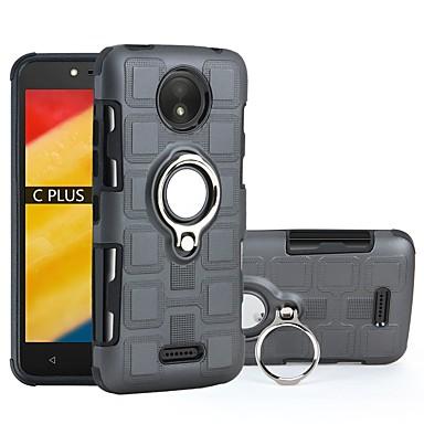 Недорогие Чехлы и кейсы для Motorola-Кейс для Назначение Motorola Moto C plus / Moto C Защита от удара / Кольца-держатели Кейс на заднюю панель броня Твердый ПК