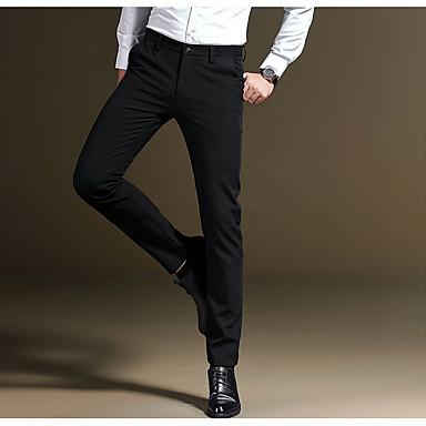 92a003468 رجالي مناسب للبس اليومي بدلة بنطلون - لون سادة أزرق أسود رمادي 34 36 35  7055314 2019 – €42.83