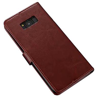 Θήκη Za Samsung Galaxy S8 Plus / S8 Novčanik / Utor za kartice / sa stalkom Korice Jednobojni Mekano PU koža