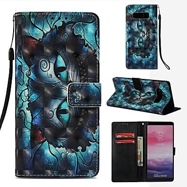 voordelige Galaxy Note-serie hoesjes / covers-hoesje Voor Samsung Galaxy Note 8 Portemonnee / Kaarthouder / Flip Volledig hoesje Kat Hard PU-nahka