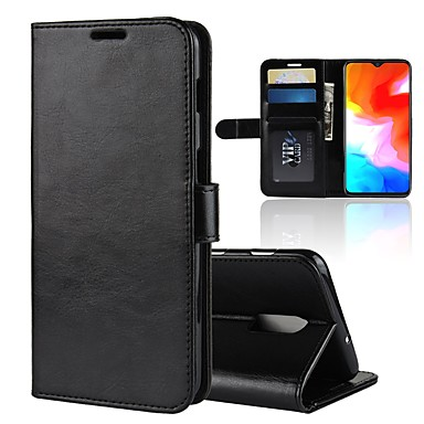 hot sale online 920d1 f42b4 [$9.49] Case For OnePlus One Plus 6T / OnePlus 5T Wallet / Card Holder /  Shockproof Full Body Cases Solid Colored Hard PU Leather for OnePlus 6 /  One ...