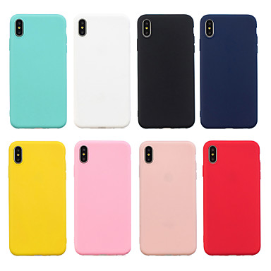 billiga iPhone 6 och Plus-fodral-fodral Till Apple iPhone XS / iPhone XR / iPhone XS Max Frostat Skal Enfärgad Mjukt TPU