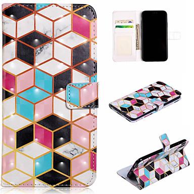 voordelige iPhone 5 hoesjes-hoesje Voor Apple iPhone XS / iPhone XR / iPhone XS Max Portemonnee / Kaarthouder / met standaard Volledig hoesje Geometrisch patroon Hard PU-nahka