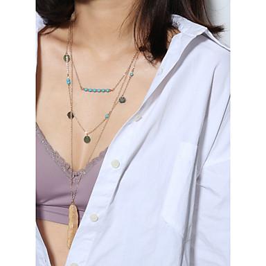 Žene slojeviti Ogrlice Klasičan Jednostavan slatko Elegantno Kamen Legura Pink 45 cm Ogrlice Jewelry 1pc Za Spoj Rad