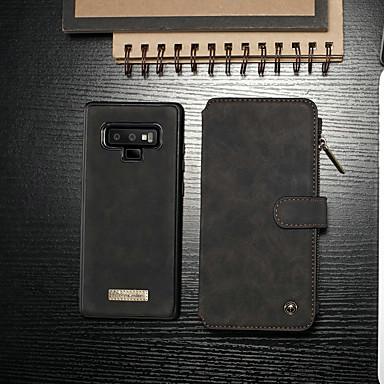 voordelige Galaxy Note-serie hoesjes / covers-hoesje Voor Samsung Galaxy Note 9 Portemonnee / Kaarthouder / met standaard Volledig hoesje Effen Hard PU-nahka
