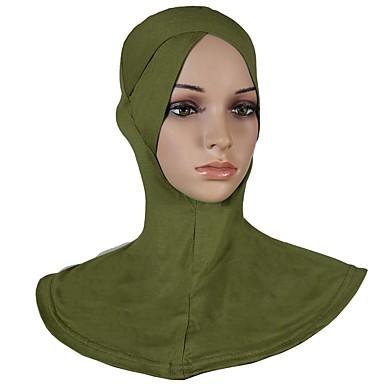حجاب لون سادة نسائي - متعدد الطبقات قطن, أساسي / كل الفصول