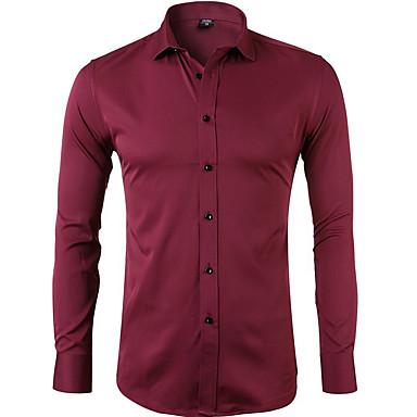 Majica Muškarci - Osnovni Dnevno Jednobojni Red / Dugih rukava