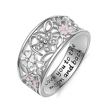Žene Prsten Micro Pave Ring 1pc Obala Kamen Circle Shape Europska pomodan Romantični Vjenčanje Spoj Jewelry Klasičan Slatko