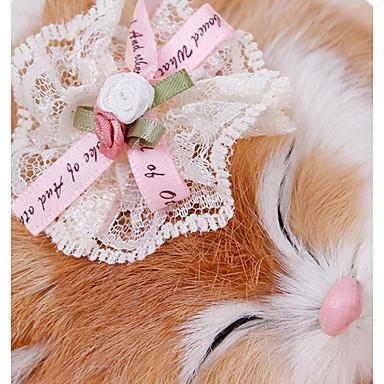 Psi Mačke Dodaci za kosu Prijenosno Mašnice Cvijet Mašna Tijare i krune Tekstil Bijela Zelen Pink