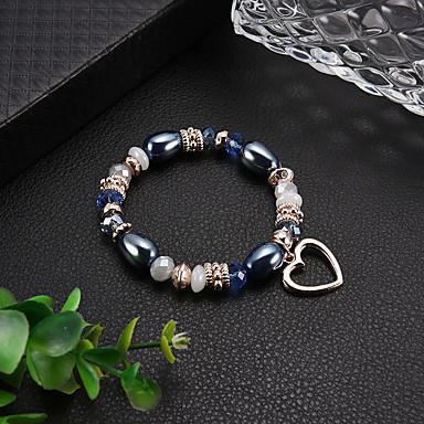 Žene Narukvica s perlama Narukvica Gyöngyök Boemski stil Moda Elegantno Reciklirani papir Narukvica Nakit Dark Blue Za Dnevno Spoj