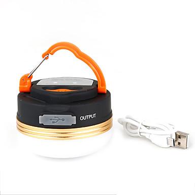 olcso Zseblámpák éslámpa túrázáshoz-TANXIANZHE® Lámpások & Kempinglámpák LED LED Sugárzók 3 világítás mód USB-kábellel Hordozható Állítható Könnyű Kempingezés / Túrázás / Barlangászat Mindennapokra Fekete / Fehér