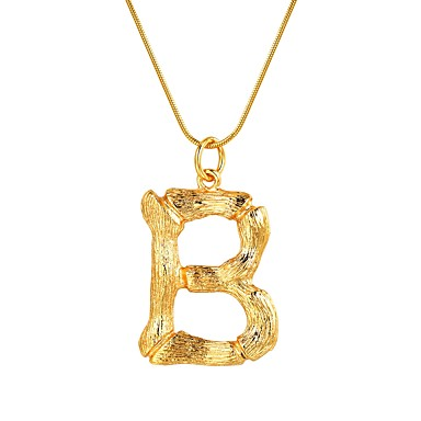 f1c9cb8cabe Women's Name Pendant Necklace Alphabet Shape Ladies Fashion Gold Silver 55  cm Necklace Jewelry 1pc For Gift Daily 7060800 2019 – $12.99