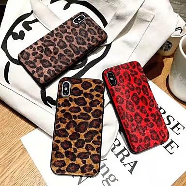 Недорогие Кейсы для iPhone 7 Plus-Кейс для Назначение Apple iPhone XS / iPhone XR / iPhone XS Max Защита от удара Кейс на заднюю панель Леопардовый принт / Животное Мягкий ТПУ