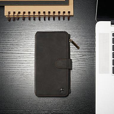 Недорогие Чехлы и чехлы-чехол для Apple iPhone 6S / кошелек / держатель для iPhone 6 / с подставкой для всего тела сплошная твердая кожа
