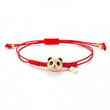 U obliku pletenice Narukvica prijateljstva - Panda Korejski, slatko, Moda Zlato Za Dnevno Žene